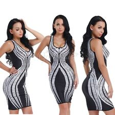 Women Summer Sleeveless Bodycon Cocktail Evening Party Short Mini Dress Club