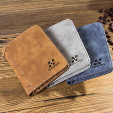 Hot Men PU Leather ID credit Card holder Clutch Bifold Coin Purse Wallet Pockets