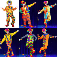 MagiDeal Halloween Masquerade Costume Party Clown Circus Adult Suit Fancy Dress