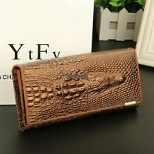 Women 3D Texture Bifold Long Wallet Multi-pocket Purse Money Cards RLWH
