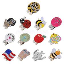 Funny Alloy Magnetic Hat Clip with Golf Ball Marker Golfer Gift 13 Styles