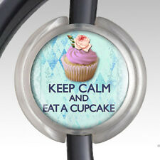 Stethoscope ID Tag Stethoscope Name Badge Handmade RN - Keep Calm Eat a Cupcake