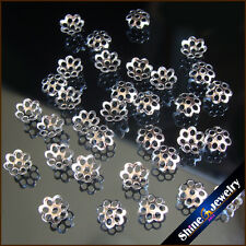 500/1000 PCS/lot 6mm Silver Plated Cones Filigree Bead Caps Findings DIY Jewelry