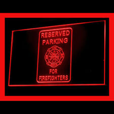 220082 Reserved Parking for firefighter emergent Private Exhibit LED Light Sign
