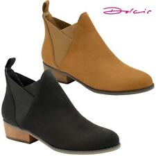 Dolcis Ladies Chelsea Boots New Womens Block Heel Ankle Biker Riding Boots Shoes
