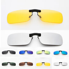 Polarized Clip On Sunglasses Driving Glasses Day Night Vision Men Women Shades