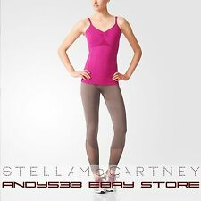 $110 Stella McCartney adidas Tank Top Inner Bra Adjustable Straps Women XS S M L