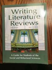 Writing Literature Reviews, 5th Edition Jose L Glavan Softcover New