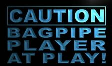 """16""""x12"""" m539-b Caution Bagpipe Player at Play Neon Sign"""