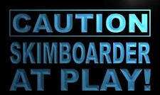 """16""""x12"""" m622-b Caution Skim boarder at Play Neon Sign"""