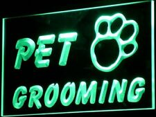 "16""x12"" i276-g OPEN PET GROOMING Shop Dog Cat Wall Decor LED Neon Signs"
