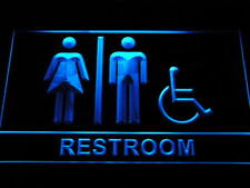 "16""x12"" i1032-b Unisex Toilet with Disabled Accessible Restroom Neon Sign"