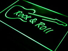 "16""x12"" i303-g Rock and Roll Guitar Music NEW Neon Sign"