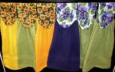 Hanging Kitchen Towels - Daisy & Pansy Tops