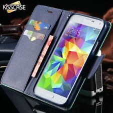 KISSCASE For Samsung Galaxy S3 III i9300 S4 i9500 Stand Wallet  Card Slot Leathe