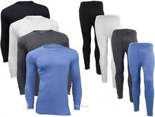 FULL SET MENS THERMAL UNDERWEAR LONG SLEEVE VEST TOP & LONG JOHNS ALL SIZES