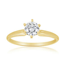 1/2ctw Diamond Solitaire Ring in 14k Yellow Gold