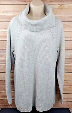 NEW Lane Bryant Womans Cowl Neck Sweater Top Ribbed Knit Gray Size 18/20 NWT