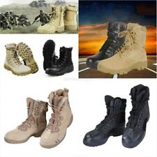 Men's Military Tactical Combat Boots Leather Outdoor Desert Army Ankle Shoes AU