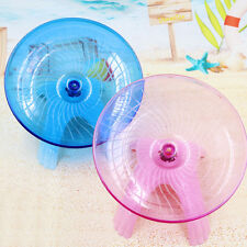"Flying saucer exercise wheel hamster mouse cage toy 5"" small spinner New ."