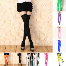 Women Girls Knit Extra Long Boot Socks Over Knee Thigh High Stocking Colorful