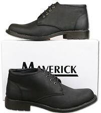 Mens New Black Lace Up Fashion Ankle Boots UK Size 10 - TO CLR