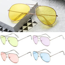 Retro Fashion Unisex Vintage Aviator Sunglasses Womens Mens Eyewear Metal Frame