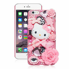 Cute Hello Kitty Crystal Pearl 3D Case For iPhone Back Cover Phone Cases apple