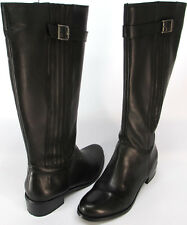 Matisse®Trotter Black Leather Buckle Detail Zip Riding Boots Sz 8, 8.5 or10M$260