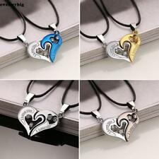 Heart-shaped Charm Pendant  His and Her Couple Heart Love Pendant Necklace