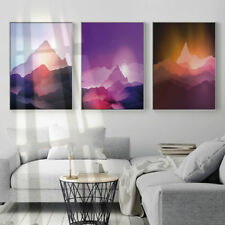 Abstract Mountains Sunset Landscape Canvas Posters Art Prints Wall Decoration