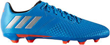 Boys adidas Messi Junior 16.3 FG Blue Silver Moulded Studs Soccer Football Boots
