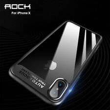 ROCK Shockproof Hybrid Soft Bumper Clear Hard Back Case Cover For iPhone X S001