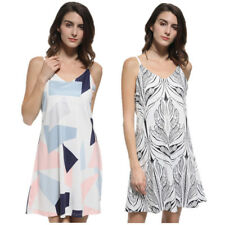 Women's Summer V Neck Loose Floral Evening Party Cocktail Casual Mini Dress