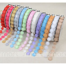 20 Yards Mixed Colors Lace Trim Craft Sewing Embellishment Flower Ribbon 1.8cm