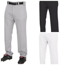 Rawlings Youth Relaxed Fit Baseball Pants in XS, S, M, L, XL Black White Gray