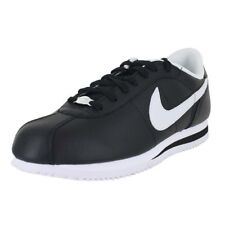 NIKE CORTEZ LEATHER BLACK WHITE 316418 012 MEN'S SHOES NEW ORIGINAL Old Style