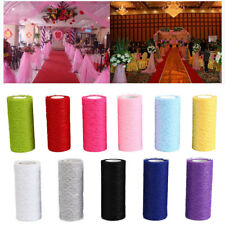 """Tulle Roll Spool Lace Roll 6""""x10YD Netting Skirt Chair Sash Bow Table Runner"""