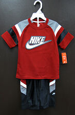 New Nike Toddler Boys Logo T-Shirt & Pant, 2pc Set Size 2T 3T 4T MSRP$40 NWT