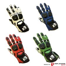 Motorcycle Gloves Cowhide Leather Motorbike Kevlar Protection Carbon Knuckle Top
