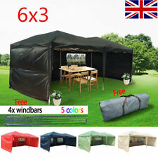 Panana 6x3mtr FULLY WATERPROOF Pop Up Gazebo with Sides and Bag 5 Color UK