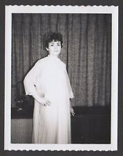 RISQUE vintage 1950s original polaroid, SEXY HOUSEWIFE POSED IN NEGLIGEE #48