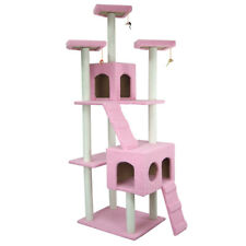 108'' Kitty Cat Tree Scratching Post Condo Tower Pet House Furniture Multi Level