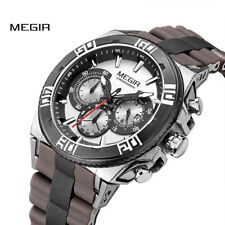 MEGIR Men's Watch Chronograph Sports Casual Quartz Wristwatch Top Luxury Brands