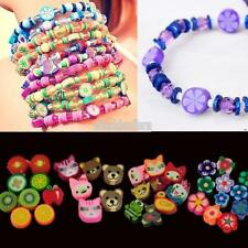 100pcs colorful Fimo Polymer Clay Fruit Spacer Beads for Bracelets EFFU 01
