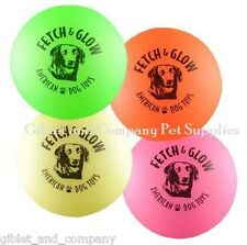LARGE FETCH & GLOW BALL - Asst Colors Glow in the Dark Non-Toxic Soft Dog Toy