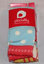 Piccalilly Girl's Footless Tights - Polka Busy Bee& Polka Strawberry 5-6 years