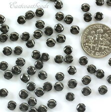 Nugget Beads, TierraCast, 5mm, Antiq Black, Coin Spacer Beads 20 /100 Pcs, 3513