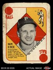 1951 Topps Red Back #15 Ralph Kiner Pirates FAIR
