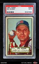 1952 Topps #383 Del Wilber Red Sox PSA 3 - VG